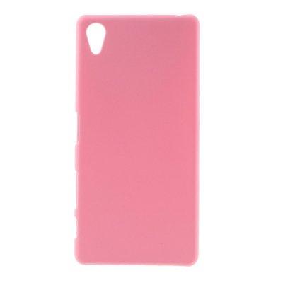 Sony Xperia X Skal i Hårdplast - Rosa med gummiyta för bättre grepp