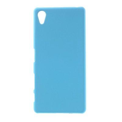 Sony Xperia X Skal i Hårdplast - Blå med gummiyta för bättre grepp