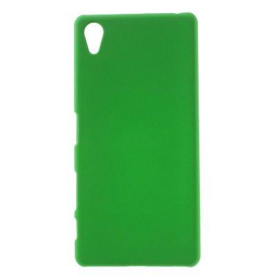 Sony Xperia X Skal i Hårdplast - Grön med gummiyta för bättre grepp