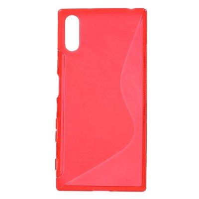 Flexibelt S-Design Skal till Sony Xperia XZ - Röd