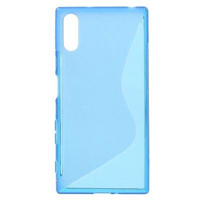 Flexibelt S-Design Skal till Sony Xperia XZ - Blå