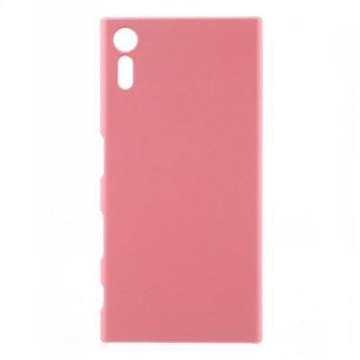 Sony Xperia XZ Skal i Hårdplast - Rosa med gummiyta för bättre grepp