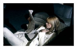 Nico reclines, The Factory NYC, poster