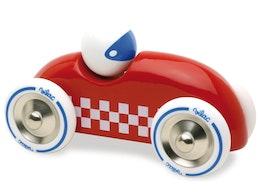 Röd racerbil i trä, Vilac