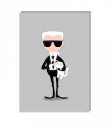 Karl Lagerfeld kort med kuvert