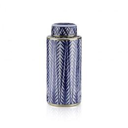 Blue Pines, urna med lock, Lucie Kaas