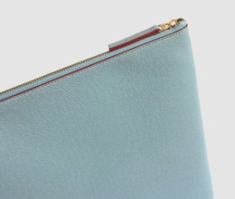 Laptop Case 10-12 tum, Ljusblå/Vinröd
