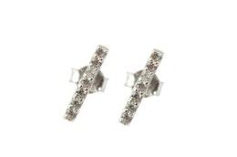 Strict Sparkling Bar Earring Silver, Örhängen Syster P