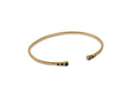 Tiny Classy Bangle Gold Black, Armband, Syster P