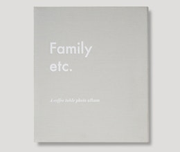 Family Etc. Coffee table photo album, Printworks Market