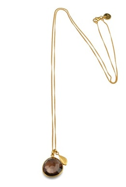 Glam Necklace Gold Smokey Quartz, Halsband Syster P