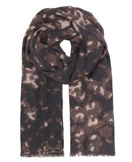 Leopard Wool Scarf, sjal i ull