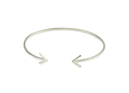 Strict Plain Bangle Arrow Silver, Armband Syster P