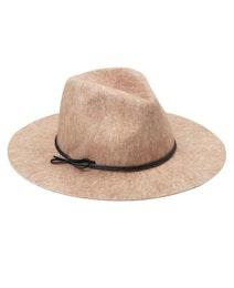 Melange Felt Hat, ullhatt med knytdetalj