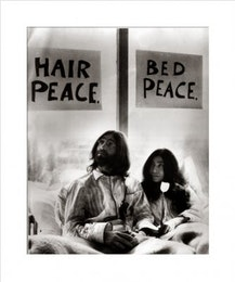 John Lennon in bed with Yoko Ono, Poster
