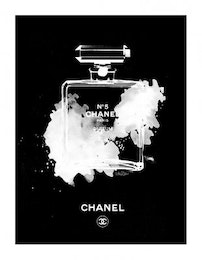 Chanel bottle invert, Poster