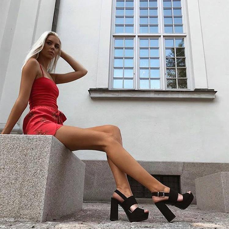 cate milly heels in black
