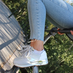 Footloop - cate milly sneakers in silver