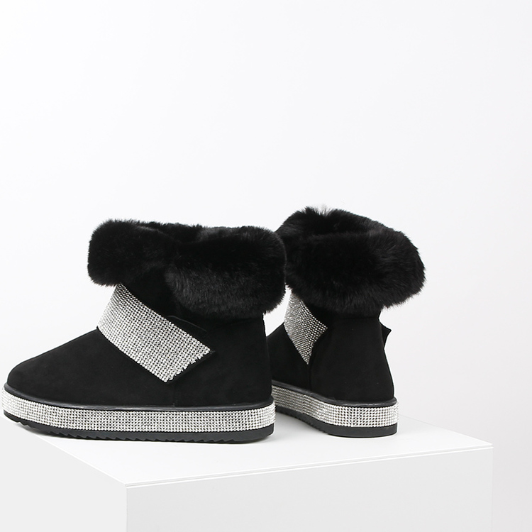 Black duff boots with bling