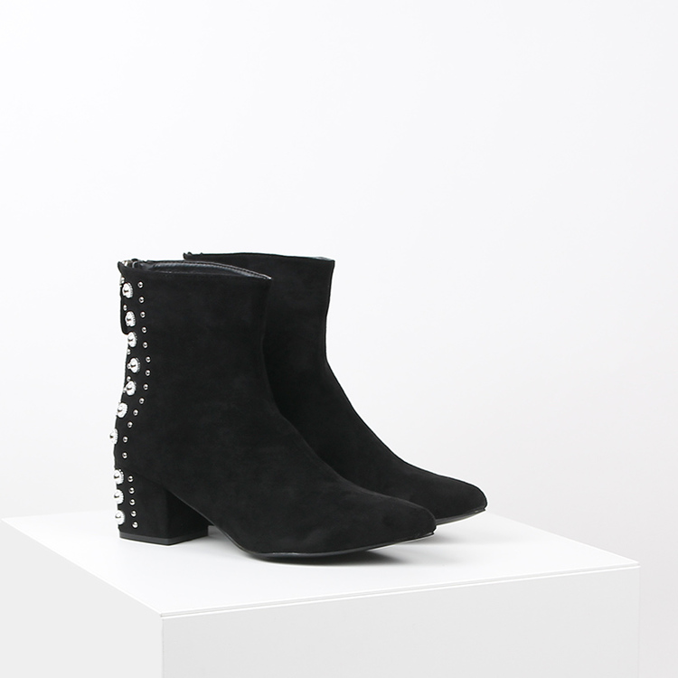 women bling boots in black