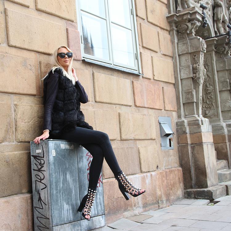cate milly women black heels