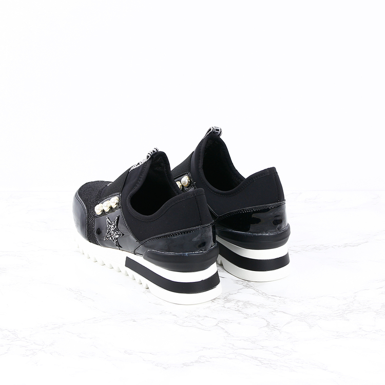 Footloop -  women sneakers kim in black