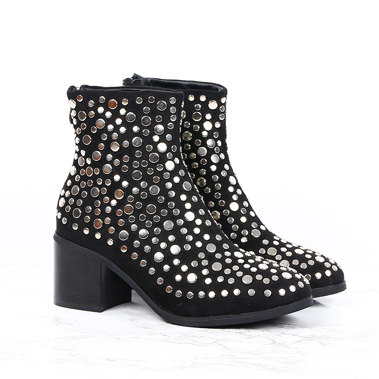 Black boots sofie with bling