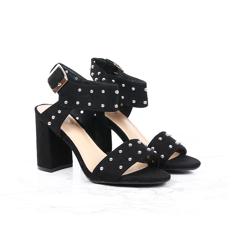 women cate milly bling black heels