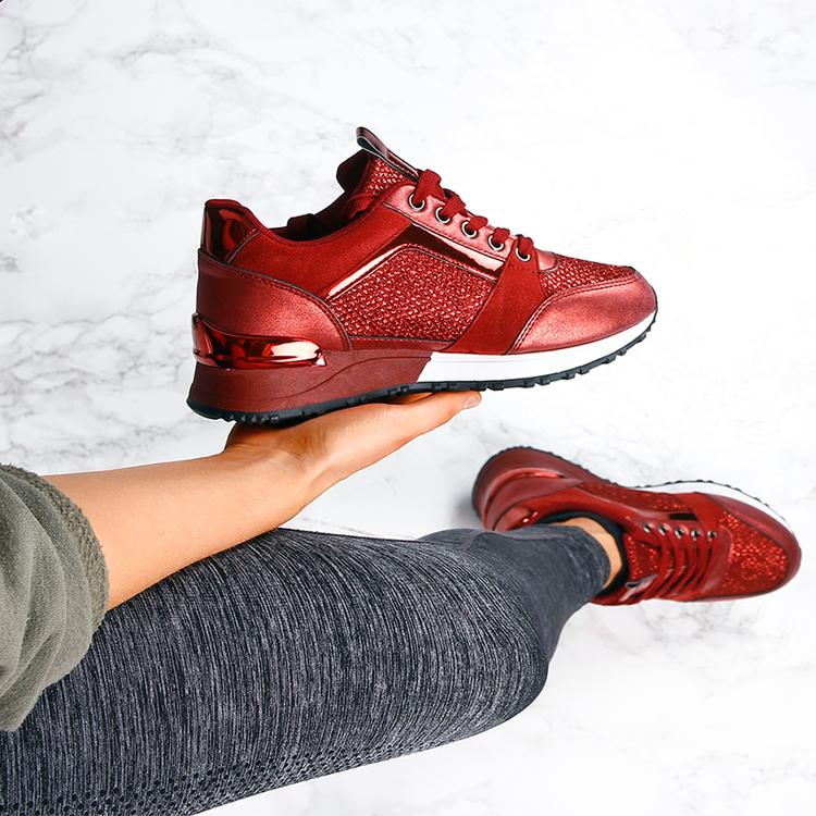 Footloop - women red sneakers sara