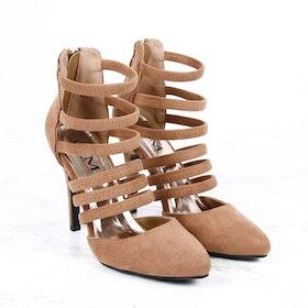 women lotus heels in brown