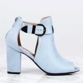 cate milly heels in blue