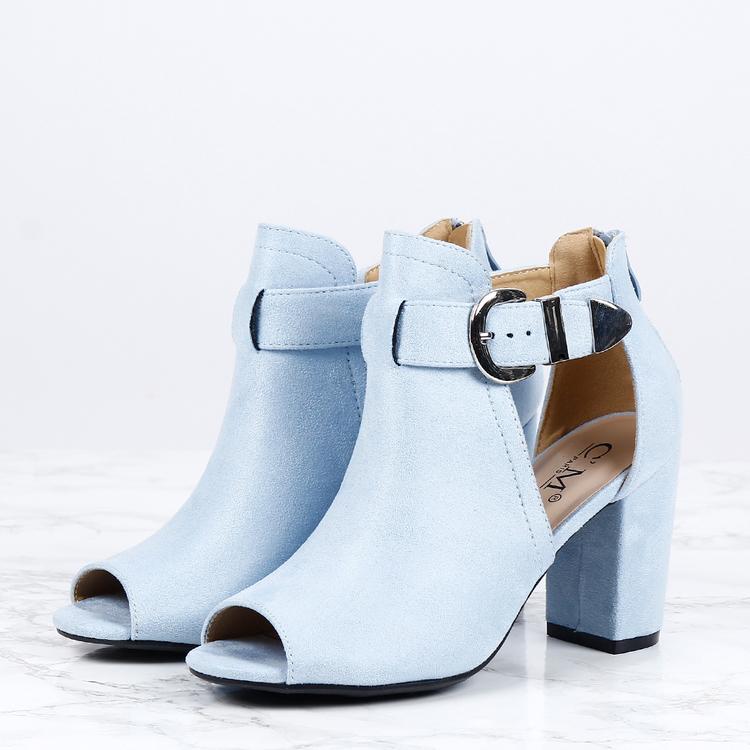 cate milly heels in blue