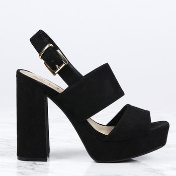 cate milly heels in black
