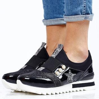 Footloop - Women sneakers in black