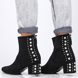 Footloop - women bling boots in black