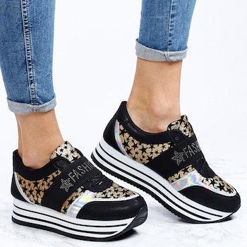 Footloop - women sneakers amy in gold