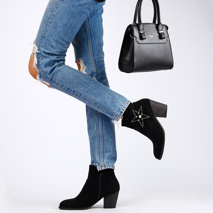 Footloop - women cate milly black boots
