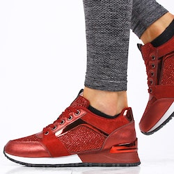 Footloop - women red sneakers sara