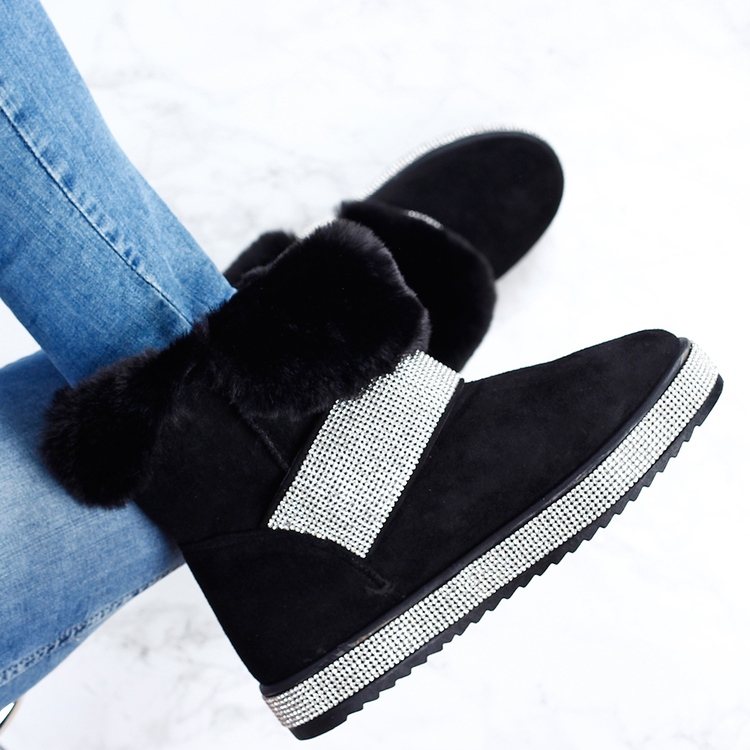 Footloop - dam boots med bling