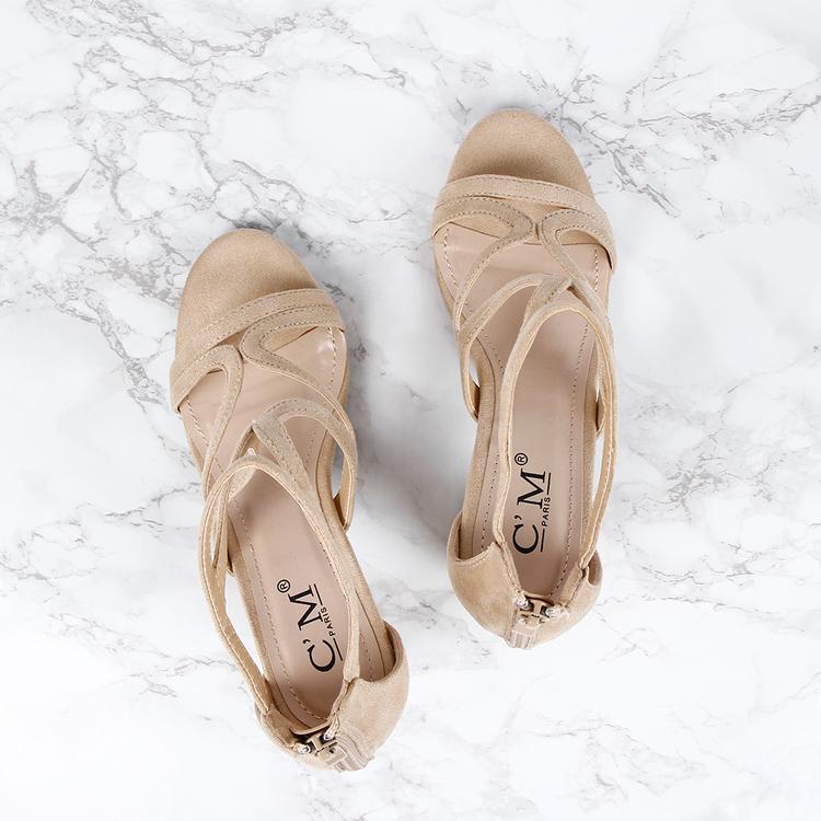 women kendall heels in beige