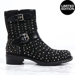 premium bling boots donna in black