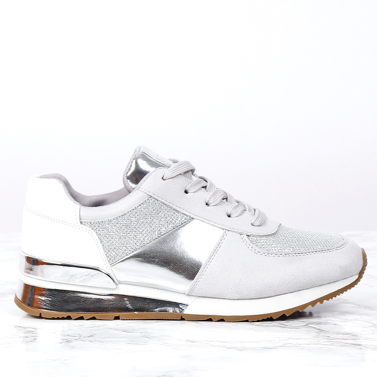 cate milly sneakers in silver