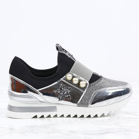 women sneakers kim in silver