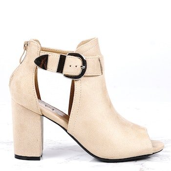 cate milly heels in sand