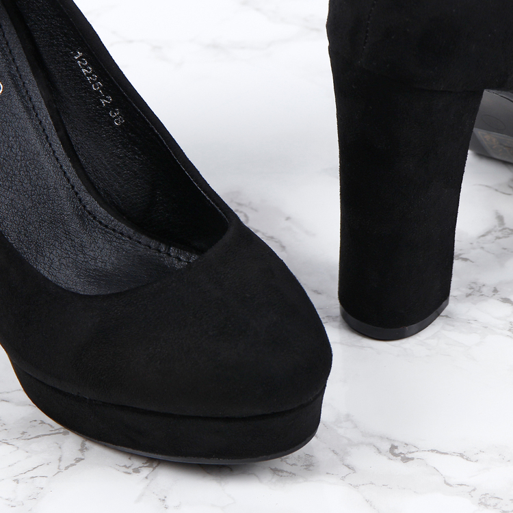 women kelly black high heels