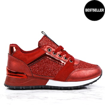 Sneakers sara in love red
