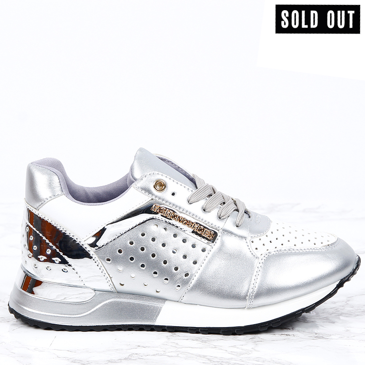 women sneakers sara in silver