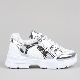 Chunky sneakers Alice in silver
