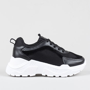 Women trainers parker in black