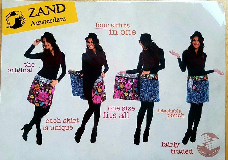 Zand Amsterdam, flera kjolar i en, grönbrun färgkombination. Free size